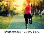 runner athlete running at...   Shutterstock . vector #234971572