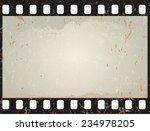 grunge film frame  vector... | Shutterstock .eps vector #234978205