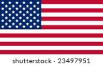 us american flag with exact... | Shutterstock .eps vector #23497951
