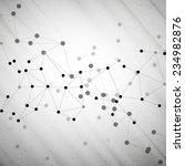 molecule structure  gray... | Shutterstock . vector #234982876