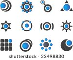 set of 12 design elements and... | Shutterstock .eps vector #23498830