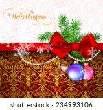 christmas vector background | Shutterstock .eps vector #234993106