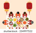 chinese new year reunion dinner ... | Shutterstock .eps vector #234997522