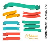 ribbons vintage style for... | Shutterstock .eps vector #235002472