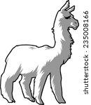 Stylized White Alpaca.