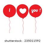 i love you balloons | Shutterstock .eps vector #235011592