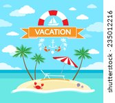summer vacation holiday... | Shutterstock .eps vector #235012216