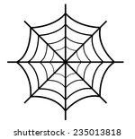 spider web retro design | Shutterstock .eps vector #235013818