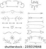 vintage hipster arrows set | Shutterstock .eps vector #235019848