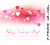blur shining valentines heart... | Shutterstock .eps vector #235020082