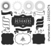 decorative vector templates and ... | Shutterstock .eps vector #235022476