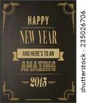 digitally generated happy new... | Shutterstock .eps vector #235026706