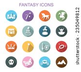 fantasy long shadow icons  flat ... | Shutterstock .eps vector #235049812