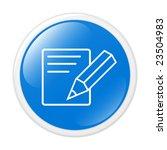 notice. vector icon. button | Shutterstock .eps vector #23504983