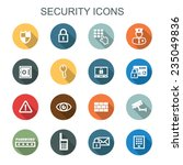 security long shadow icons ... | Shutterstock .eps vector #235049836