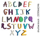 hand   drawn vector alphabet | Shutterstock .eps vector #235066246