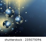 best christmas balls background  | Shutterstock . vector #235075096