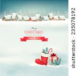holiday christmas background... | Shutterstock .eps vector #235078192