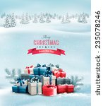 holiday christmas background...   Shutterstock .eps vector #235078246