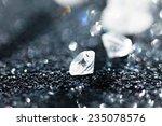 diamonds on black background | Shutterstock . vector #235078576