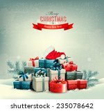 holiday christmas background... | Shutterstock .eps vector #235078642