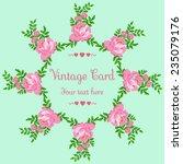 vector circular floral wreaths... | Shutterstock .eps vector #235079176
