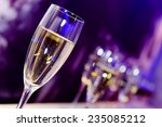 luxury party champagne glass in ... | Shutterstock . vector #235085212