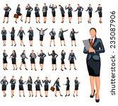 set of businesswoman in...   Shutterstock .eps vector #235087906
