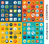 set of veterinary flat icons | Shutterstock . vector #235089496