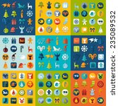 set of christmas icons | Shutterstock . vector #235089532