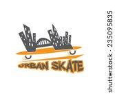 urban skate vector design... | Shutterstock .eps vector #235095835