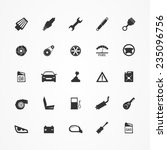 car parts icons set | Shutterstock .eps vector #235096756