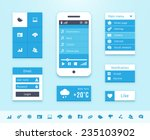 operating system interface...   Shutterstock . vector #235103902