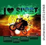 poster of bmx. sport vector... | Shutterstock .eps vector #235114468