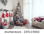 beautiful holdiay decorated... | Shutterstock . vector #235115002