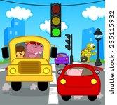 transport traffic in city  ... | Shutterstock .eps vector #235115932