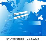 banking on line illustration. | Shutterstock . vector #2351235