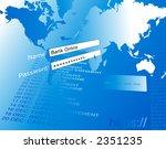 banking on line illustration. | Shutterstock . vector #2351235