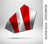 red abstract geometric badge ...
