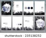 set of templates brochure ... | Shutterstock .eps vector #235138252