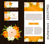 wedding invitation cards with... | Shutterstock .eps vector #235157902