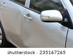 damaged car after accident  | Shutterstock . vector #235167265