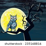 illustration of an owl. file... | Shutterstock .eps vector #235168816