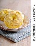 Round Glazed Cookies Yellow On...