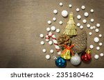 christmas and happy new year... | Shutterstock . vector #235180462