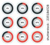 vector progress pie charts.... | Shutterstock .eps vector #235186528
