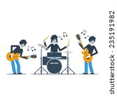 rock group music band  live... | Shutterstock .eps vector #235191982