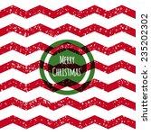 glitter red merry christmas...   Shutterstock .eps vector #235202302