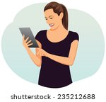beautiful businesswoman with... | Shutterstock .eps vector #235212688