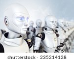army of robots | Shutterstock . vector #235214128